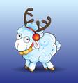 Funny baby sheep vector image vector image