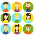Funny Characters Flat vector image vector image