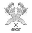gemini vector image vector image