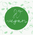 go vegan - motivational poster or banner vector image