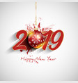 grunge happy new year bauble background vector image vector image