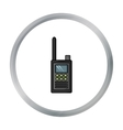 Handheld transceiver icon in cartoon style vector image vector image