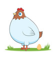 happy cartoon hen vector image