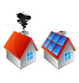 home heating alternative energy sources vector image vector image