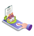 home insurance online flat isometric vector image vector image
