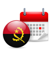 Icon of National Day in Angola vector image vector image