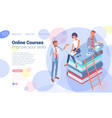 isometric online education concept vector image vector image