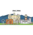 italy tivoli city skyline architecture vector image vector image