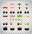 japanese food sushi set vector image vector image