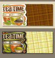 layouts for tea time vector image vector image