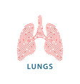 linear lungs health vector image