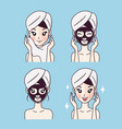 mask treatment girl vector image vector image