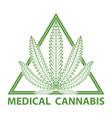 medical cannabis marijuana logo vector image vector image