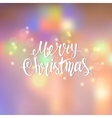 Merry Christmas lettering a blurred background vector image