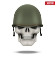 Military US helmet M1 WWII and skull vector image vector image