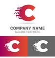 modern letter c logo vector image vector image