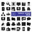 office glyph icon set workspace symbols vector image vector image