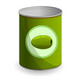 olive tin can icon cartoon style vector image