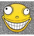 orange crazy smile vector image vector image