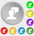 People talking icon sign Symbol on eight flat vector image vector image
