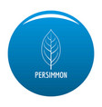 persimmon leaf icon blue vector image vector image