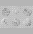 realistic water circles top view round waves vector image vector image