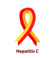 red yellow ribbon hepatitis c world hepatitis day vector image vector image