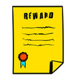 reward icon icon cartoon vector image vector image