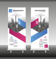 roll up banner stand design with abstract vector image