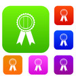 rosette set color collection vector image vector image