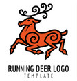 running deer vector image