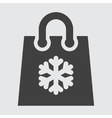 Shopping icon bag vector image vector image