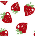 simple strawberries seamless pattern vector image vector image