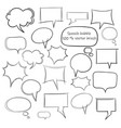 sketch style speech bubbles vector image vector image