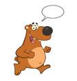smiling brown bear cartoon character vector image vector image