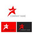 star speed company logo vector image vector image