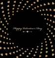 Stylish greeting card Happy Valentine with hearts vector image