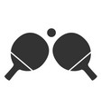 table tennis icon on white background ping-pong vector image vector image