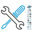 Tuning Tools Icon With Air Drone Tools Bonus vector image vector image