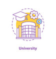 university concept icon vector image vector image