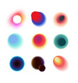 vibrant colorful circles with blurred radiant vector image vector image