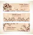 Vintage ornate flourish horizontal banner vector image