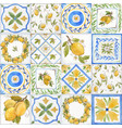 watercolor ornament square pattern vector image vector image