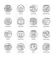 web development line icons 3 vector image vector image