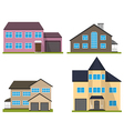 Set of flat houses vector image