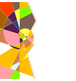 Colorful abstract geometric background with place vector image