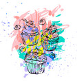 hand drawn abstract graphic freehand vector image