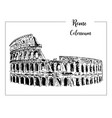 coliseum rome architectural symbol beautiful vector image