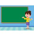 teacher and backboard vector image