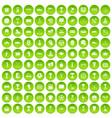 100 awards icons set green circle vector image vector image